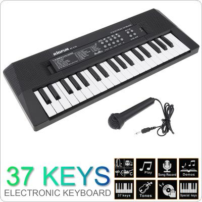 37 Keys Electronic Keyboard Piano Digital Music Key Board with Microphone Children Gift Musical Enlightenment