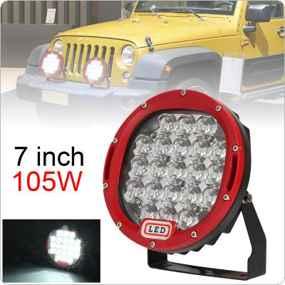 7 Inch 105W 6000K Work Driving Lights Spot / Flood light HID Vehicle Driving Lights for Offroad SUV / ATV / Truck / Boat