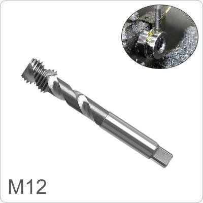 1 piece M12 Square  Shank High Speed Steel Screw Thread Tap Drill Bit  for Woodworking Plastic And Aluminum HSS Drill Bit